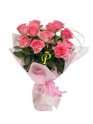 Букет 010.  Роза.  Количество цветов в букетах определяется заказчиком...